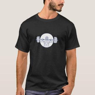Strongman Lifting Weight Mono Line T-Shirt