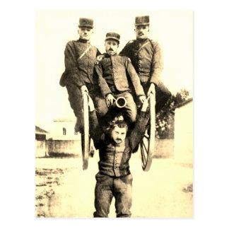 Strongman Lifts Cannon Postcard