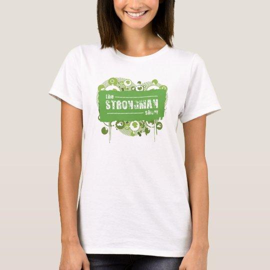 Strongman Show Green Grunge T-Shirt