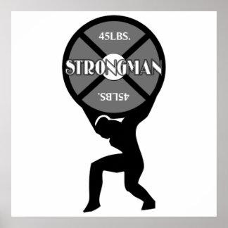 Strongman Weightlifter Poster