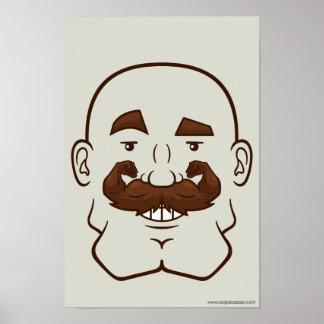 Strongstache (Bald, Brown Hair) Poster