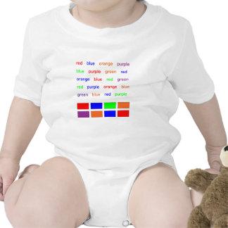 Stroop Test Baby Bodysuits