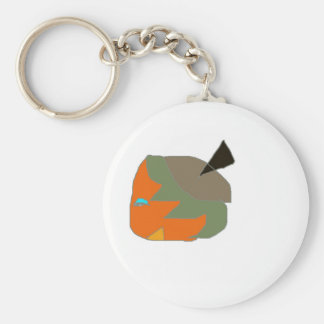 Strow character comedic from cartoon basic round button keychain