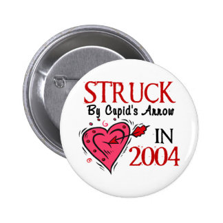 Struck By Cupid's Arrow In 2004 2 Inch Round Button