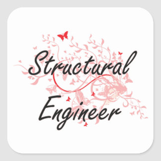 Structural Engineer Artistic Job Design with Butte Square Sticker
