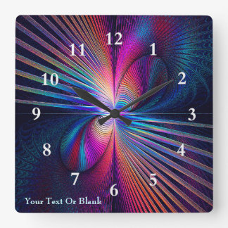 Structural Iridescence Square Wall Clock