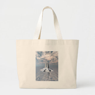 Structural Tower of Atlantis Large Tote Bag