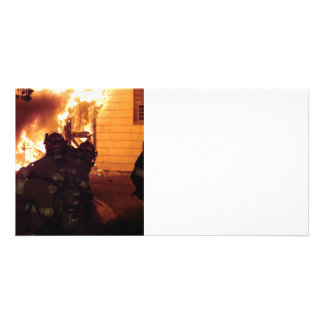 Structure Fire Photo Card