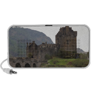 Structure of Eilean Donan Castle with stone bridge PC Speakers
