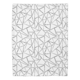 Structure of triangles duvet cover