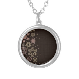 Structure snow2 silver plated necklace