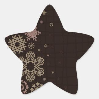 Structure snow2 star sticker