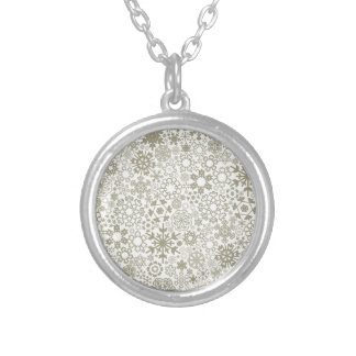 Structure snow3 silver plated necklace
