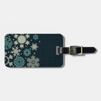Structure snow luggage tag