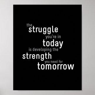 "Struggle Today - 8""x10"" Art Print"