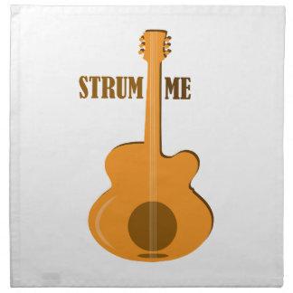 Strum Me Printed Napkin