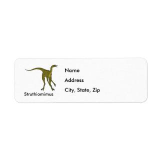 Struthiomimus Return Address Label