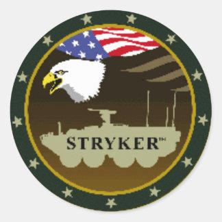 stryker_logo classic round sticker