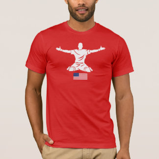 Strykr Apparel Red T-Shirt USA Flag