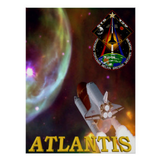 STS 129 Patch Poster