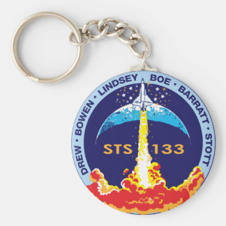 STS-133 mission patch Basic Round Button Keychain