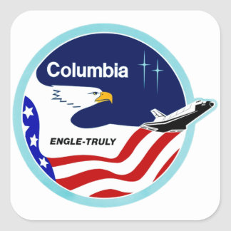 STS-2 Columbia:  Engle & Truly Square Sticker
