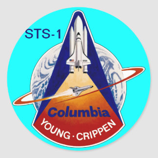 STS-2 NASA SPACE SHUTTLE ROUND STICKER