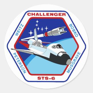 STS 6: Challenger OV-99 Classic Round Sticker