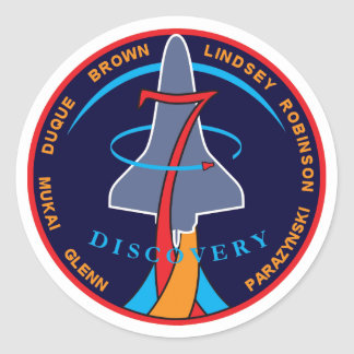 STS-95 Space Shuttle Discovery Mission Patch Logo Round Sticker