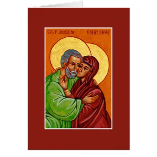 Sts Anne & Joachim Blank Greeting/Prayer Card