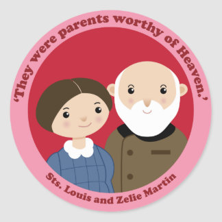 Sts. Louis and Zelie Martin Classic Round Sticker