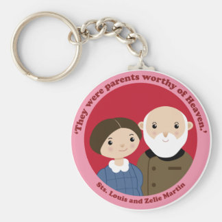 Sts. Louis and Zelie Martin Keychain