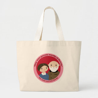 Sts. Louis and Zelie Martin Large Tote Bag