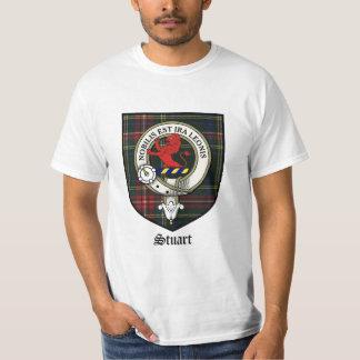 Stuart Clan Crest Badge Tartan T-Shirt