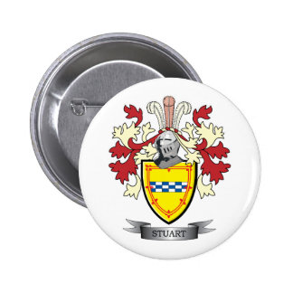 Stuart Family Crest Coat of Arms 2 Inch Round Button