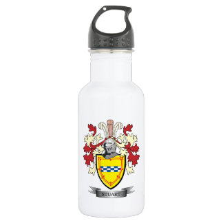 Stuart Family Crest Coat of Arms 532 Ml Water Bottle