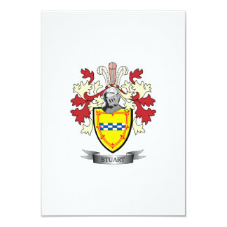Stuart Family Crest Coat of Arms Card