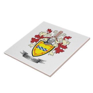 Stuart Family Crest Coat of Arms Ceramic Tiles