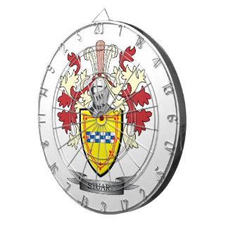 Stuart Family Crest Coat of Arms Dart Boards