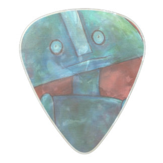 """Stuart"" Medium Gauge .80mm Guitar Pick Pearl Celluloid Guitar Pick"