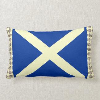 Stuart Tartan Polkadot Saltire Cushion Throw Pillow