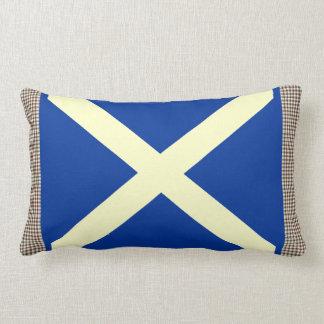 Stuart Tartan Scottish Saltire Cushion
