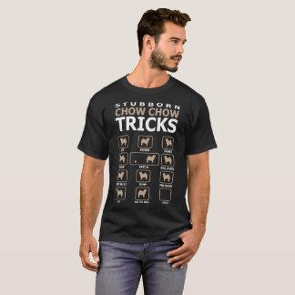Stubborn Chow Chow Dog Tricks Funny Tshirt