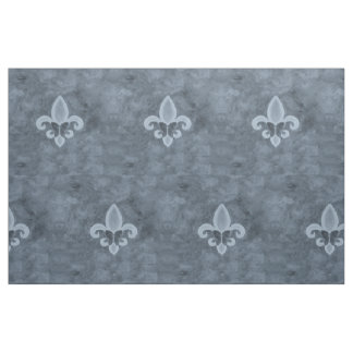 Stubborn Craft | Denim Blue Fleur Lis Butterfly Fabric