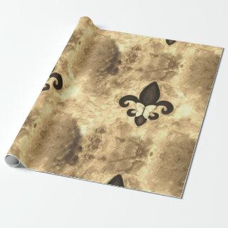 Stubborn Party Sepia Brown Butterfly Fleur de Lis