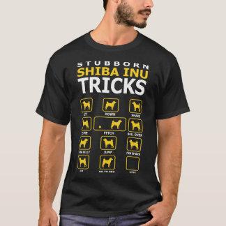 Stubborn Shiba Inu Dog Tricks Funny Tshirt