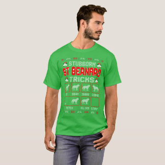 Stubborn St Bernard Tricks Christmas Ugly Sweater
