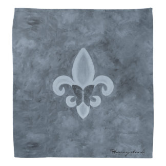 Stubborn Stylish Denim Blue Fleur de Lis Butterfly Kerchiefs
