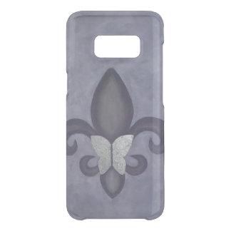 Stubborn Tech | Purple Butterfly and Fleur de Lis Uncommon Samsung Galaxy S8 Case