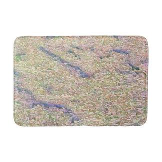 Stucco Green Sea Bathroom Mat